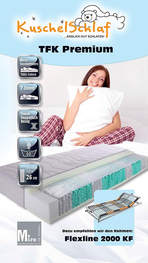 kuschelschlaf tfk premium 7 zonen matratze. Black Bedroom Furniture Sets. Home Design Ideas